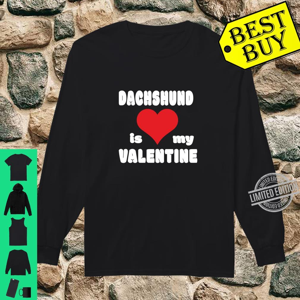Dachshund For Dogs Love Heart Valentine's Day Shirt long sleeved