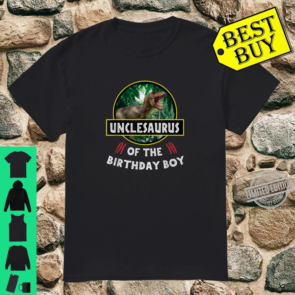 Dinosaurier Onkel des Geburtstagsjungen Jura thematisiert Shirt