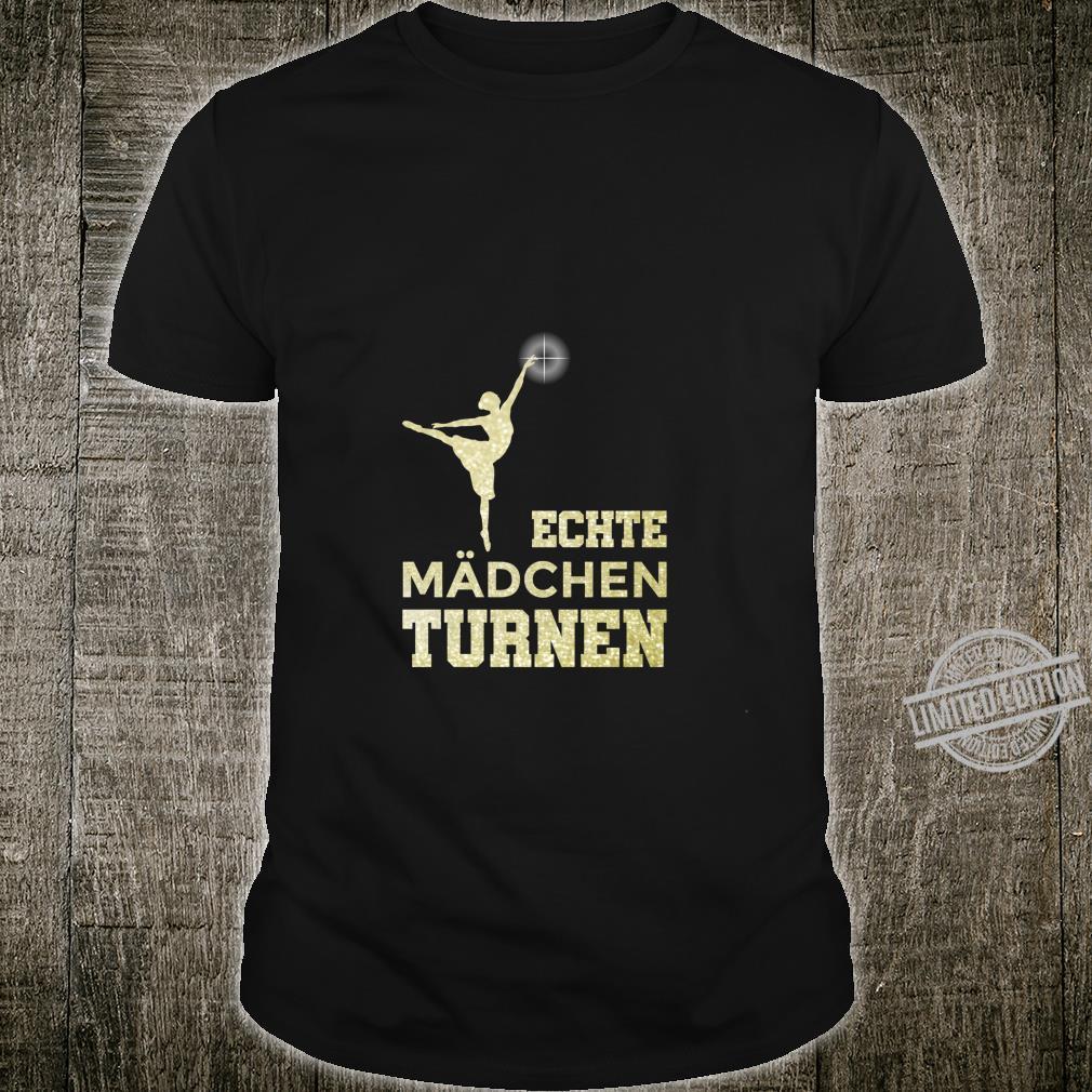 Echte Mädchen Turnen für Turnerin Akrobatik Turner Langarmshirt Shirt