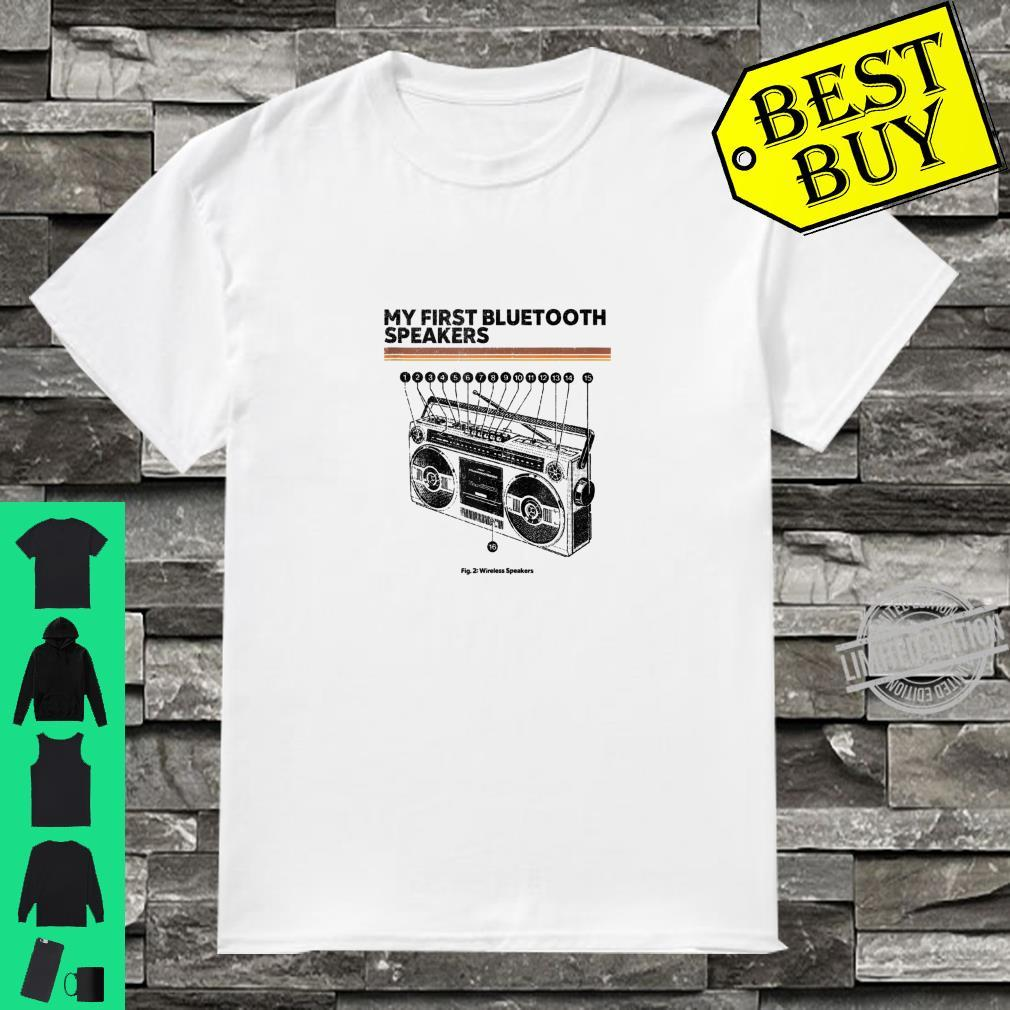 Funny Retro Cassette Player Schematic Vintage Shirt