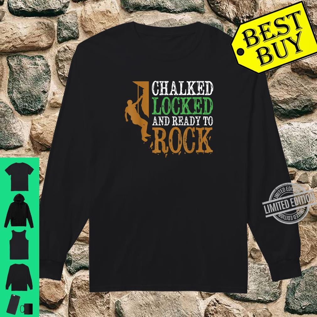 Funny Rock Climbing Bouldering Mountain Climbing Shirt long sleeved