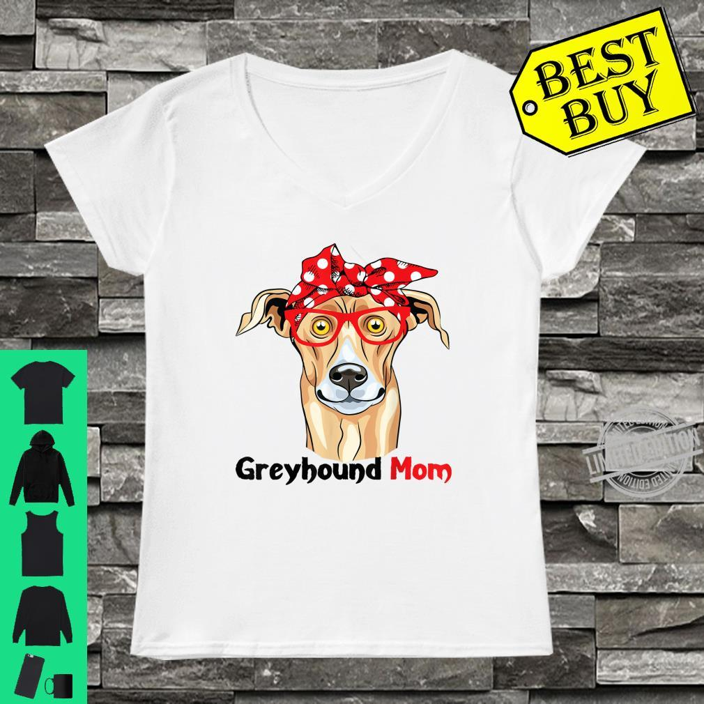 Greyhound Mom Cute Dogs Mothers Day Shirt ladies tee