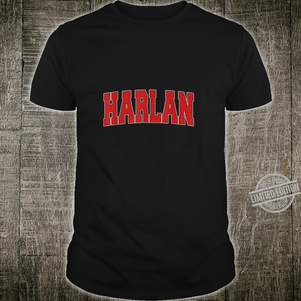 HARLAN IA IOWA Varsity Style USA Vintage Sports Shirt