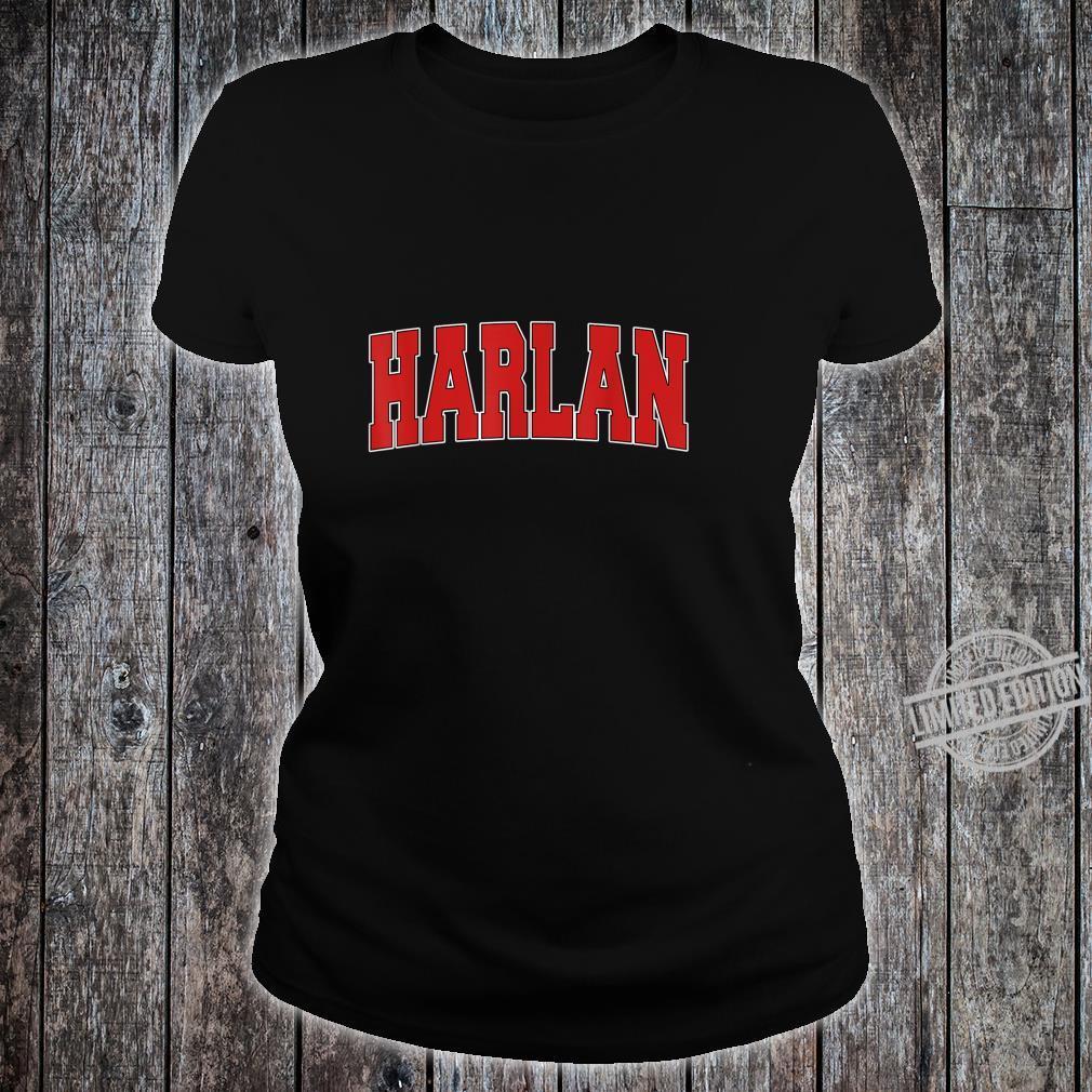 HARLAN IA IOWA Varsity Style USA Vintage Sports Shirt ladies tee