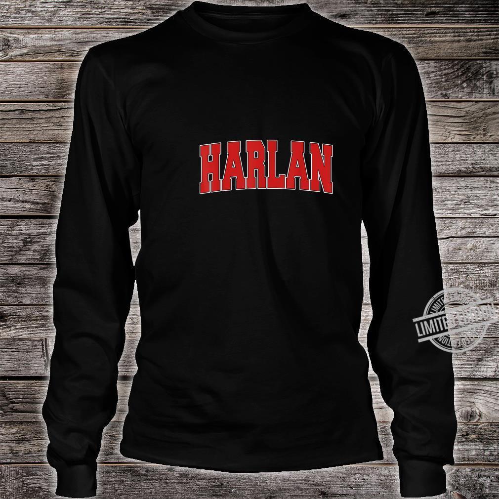 HARLAN IA IOWA Varsity Style USA Vintage Sports Shirt long sleeved