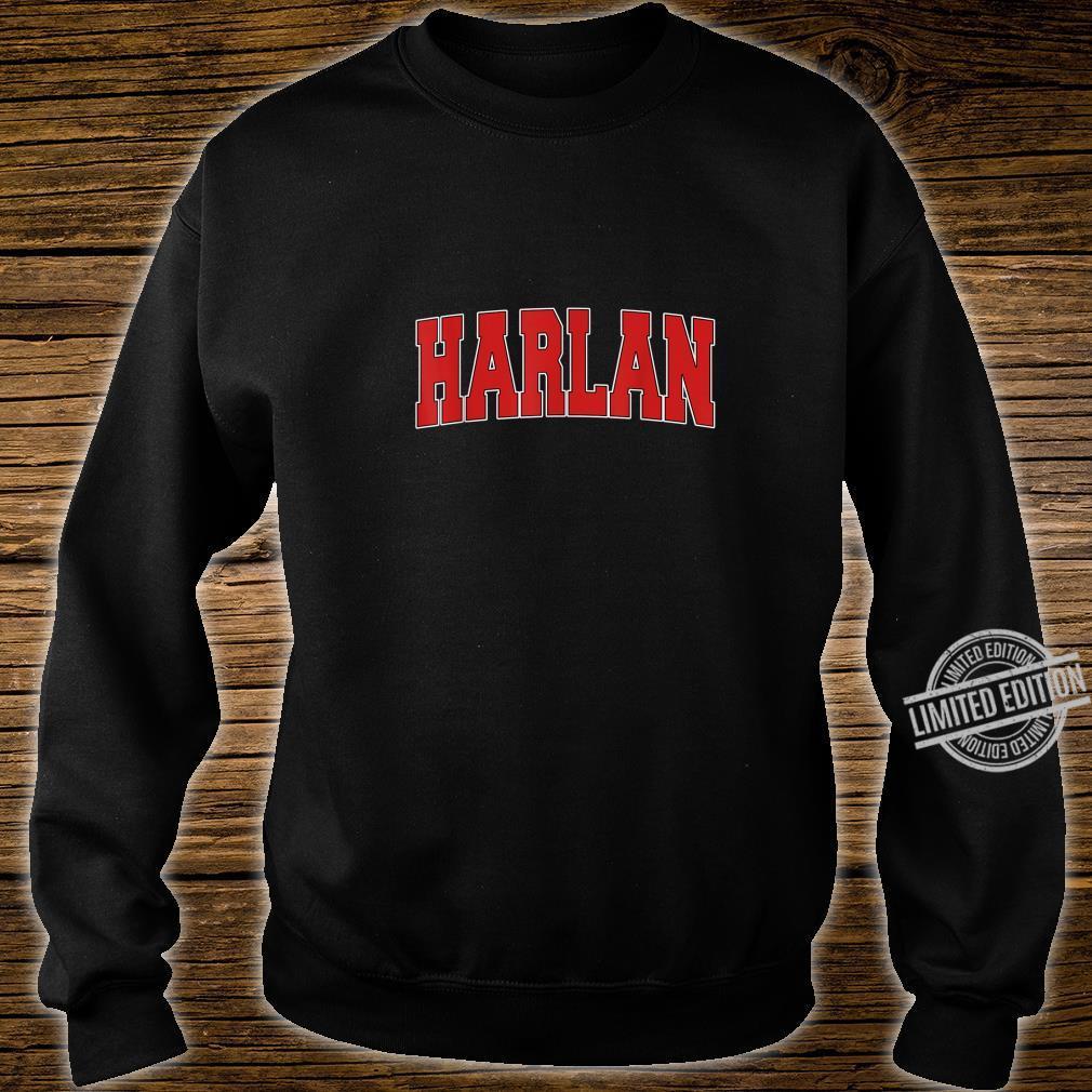 HARLAN IA IOWA Varsity Style USA Vintage Sports Shirt sweater