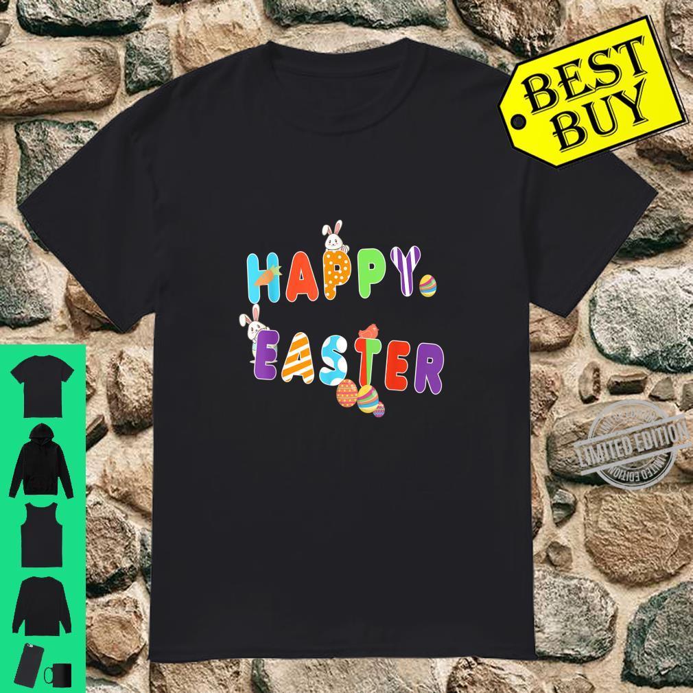 Happy Easter Day Cute Emoticon Panama Egg Bunny Shirt Shirt