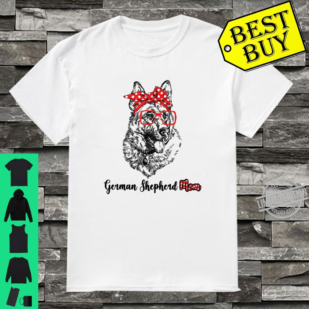 Happy Mother's Day German Shepherd Mom Red Headband Shirt