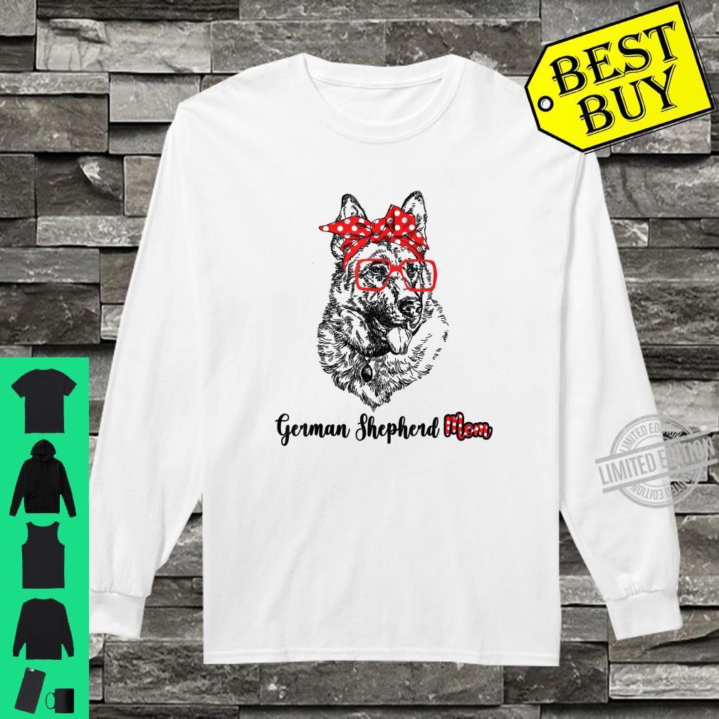 Happy Mother's Day German Shepherd Mom Red Headband Shirt long sleeved