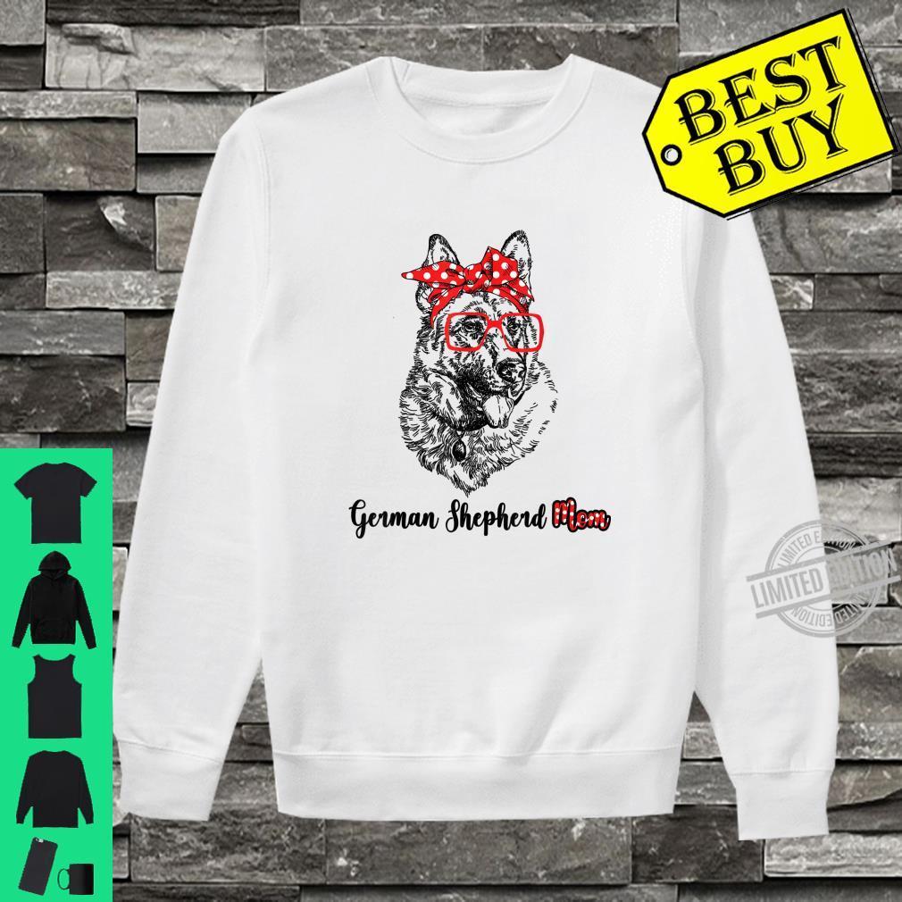 Happy Mother's Day German Shepherd Mom Red Headband Shirt sweater
