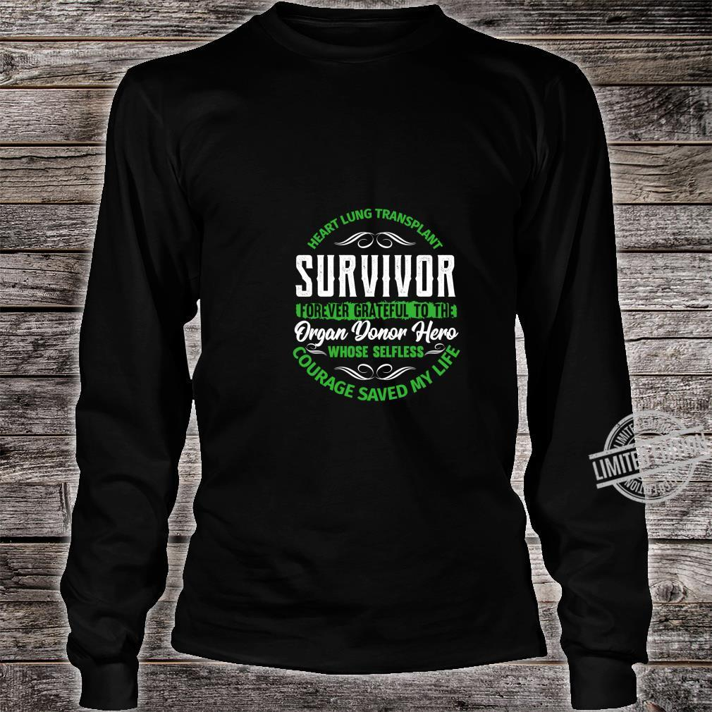 Heart Lung Transplant Survivor Forever Grateful Organ Donor Shirt long sleeved