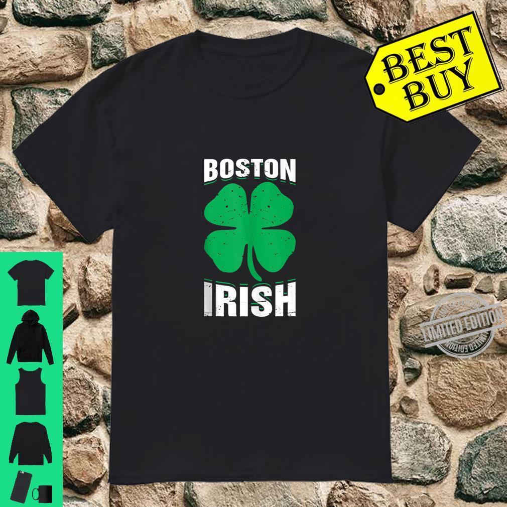 Irish Boston FourLeaf Clover St.Patrick's Day Shirt