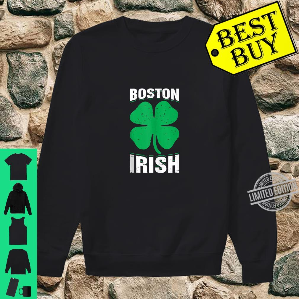 Irish Boston FourLeaf Clover St.Patrick's Day Shirt sweater