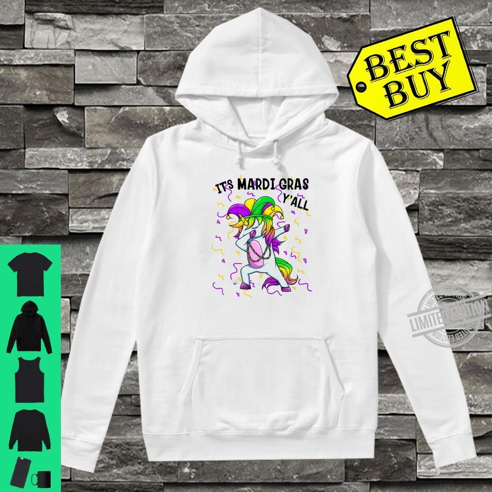 It's Mardi Gras Y'All Dabbing Unicorn Bead Costume Shirt hoodie
