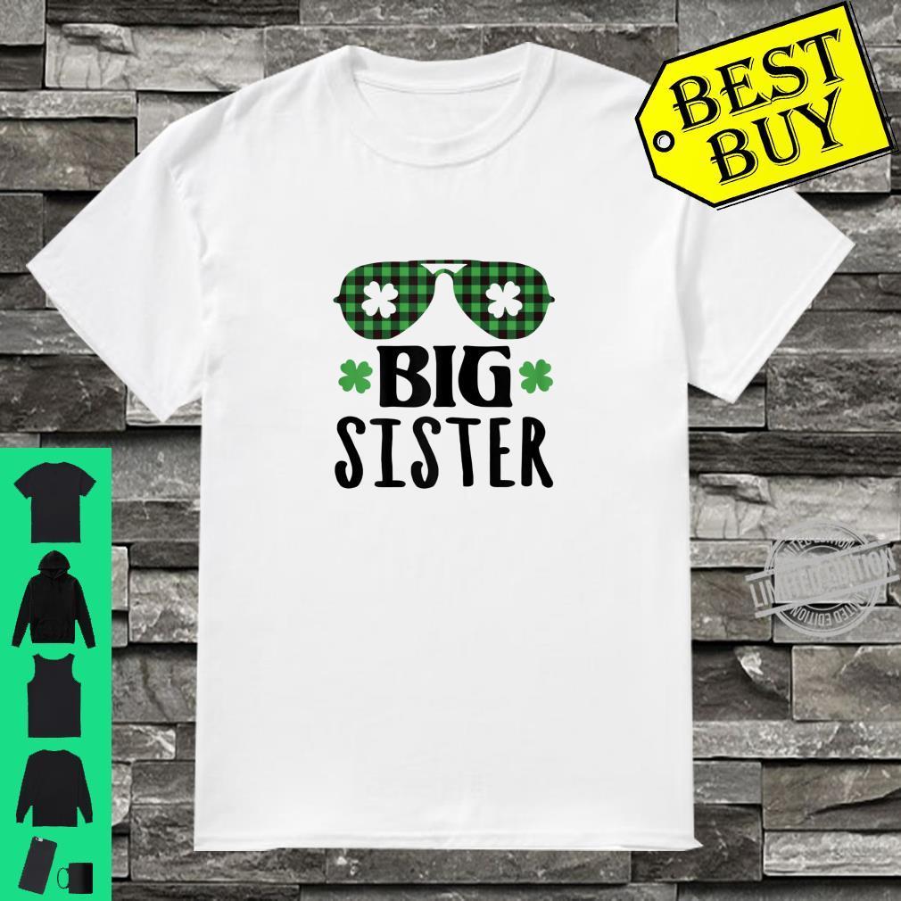 Kids Lucky Sister St. Patrick's Day Shamrock Toddler Girl Shirt