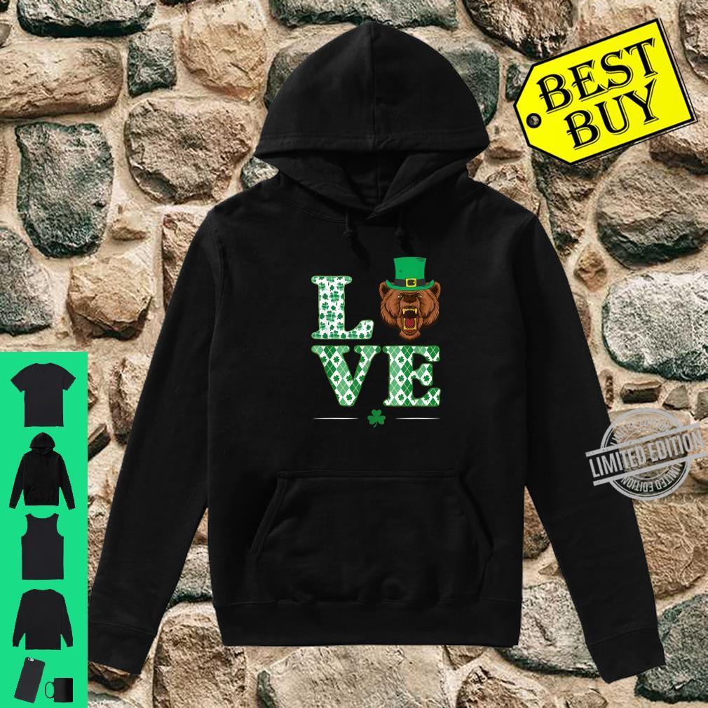 Love Bear Shamrock St. Patrick Day Shirt hoodie