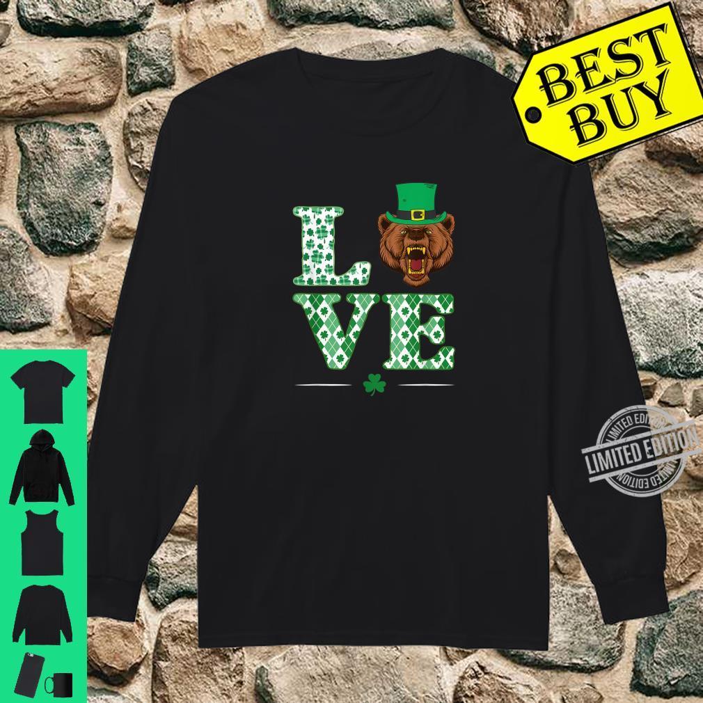 Love Bear Shamrock St. Patrick Day Shirt long sleeved