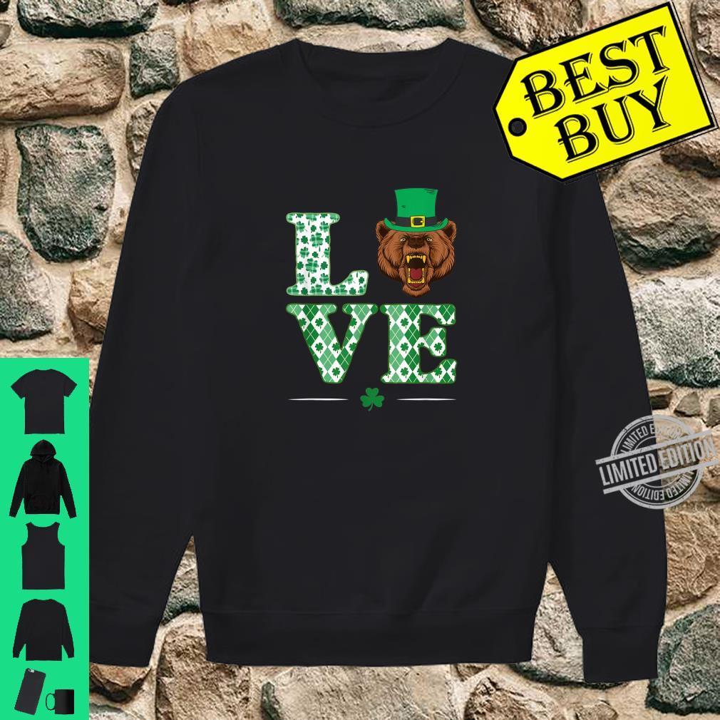 Love Bear Shamrock St. Patrick Day Shirt sweater
