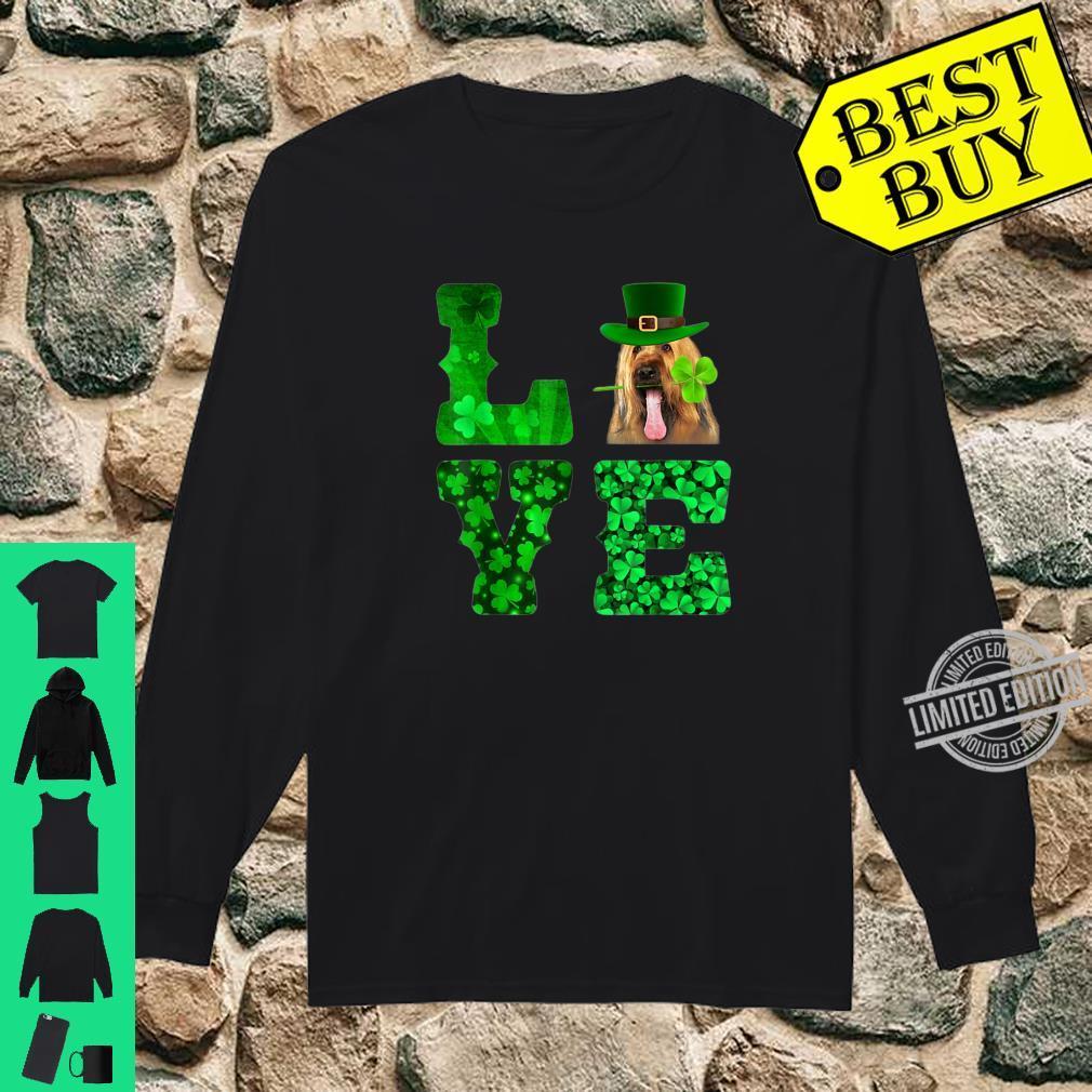 Love Briard Shamrock Happy St. Patrick Day Shirt long sleeved