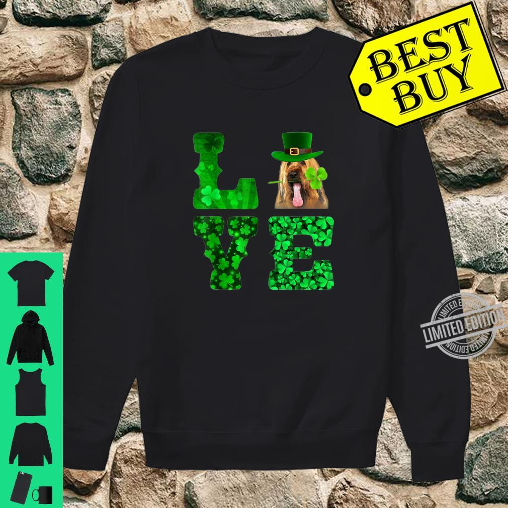 Love Briard Shamrock Happy St. Patrick Day Shirt sweater