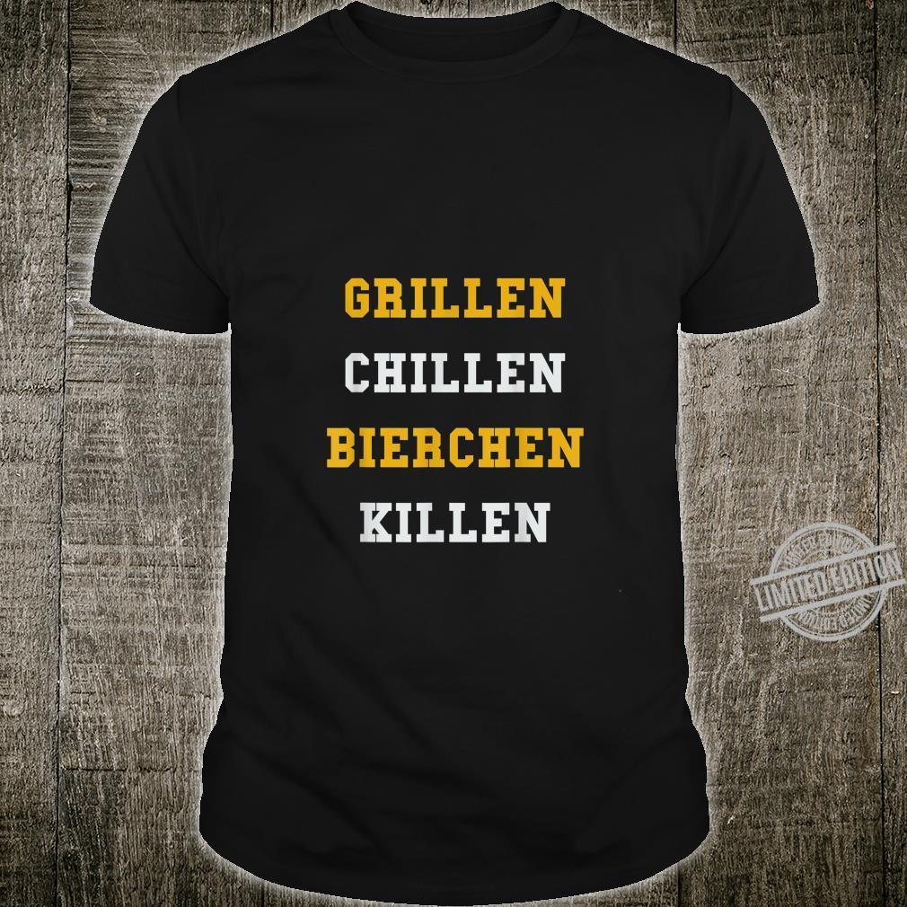 Lustiges BBQ Grillgeschenk Grillen Chillen Bierchen Killen Shirt