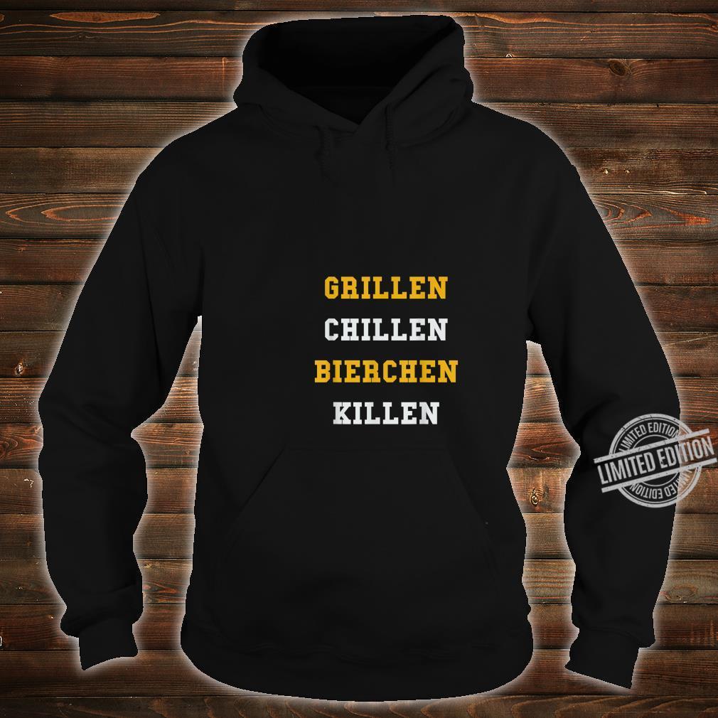 Lustiges BBQ Grillgeschenk Grillen Chillen Bierchen Killen Shirt hoodie