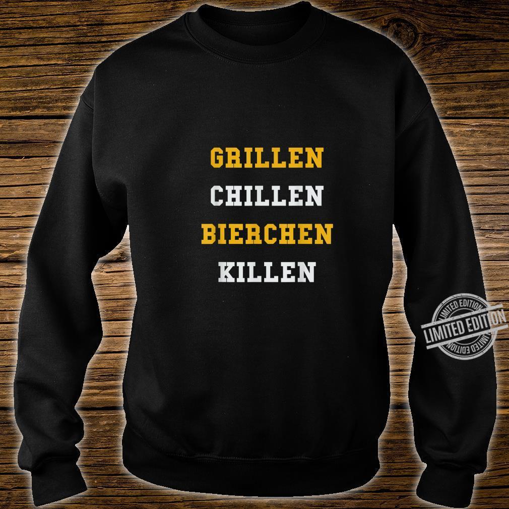 Lustiges BBQ Grillgeschenk Grillen Chillen Bierchen Killen Shirt sweater
