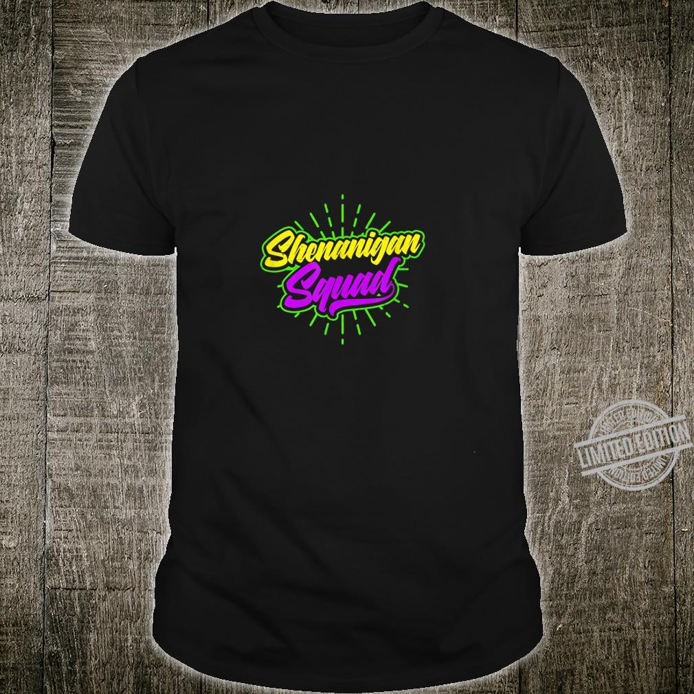 Mardi Gras Beads Design Shenanigan Squad Shirt