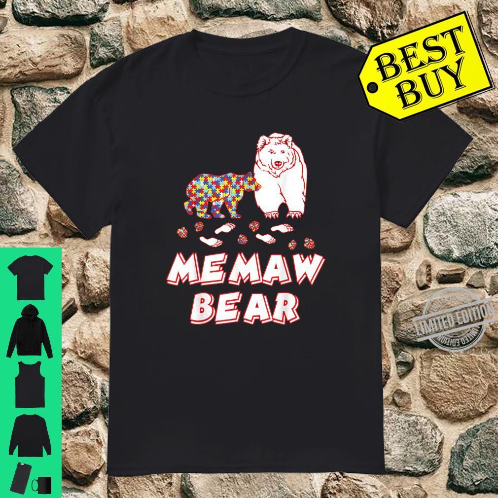 Memaw Bear Autism Awareness Shirt