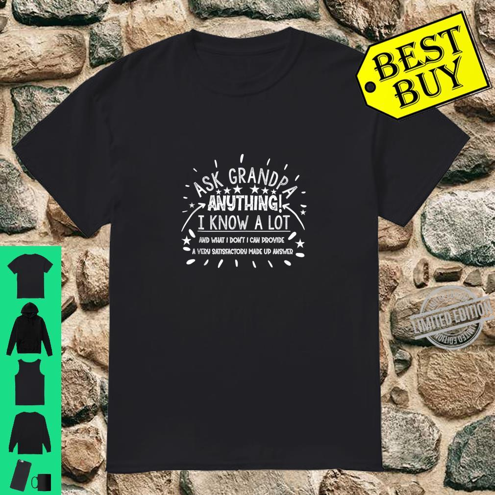 Mens Ask Grandpa Anything Grandfather for Father's Day Shirt