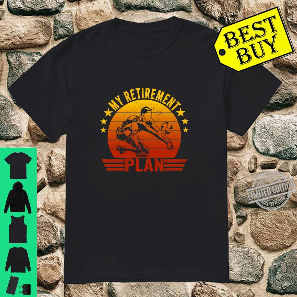 My Retirement Plan Volleyball Retro Vintage Style Langarmshirt Shirt