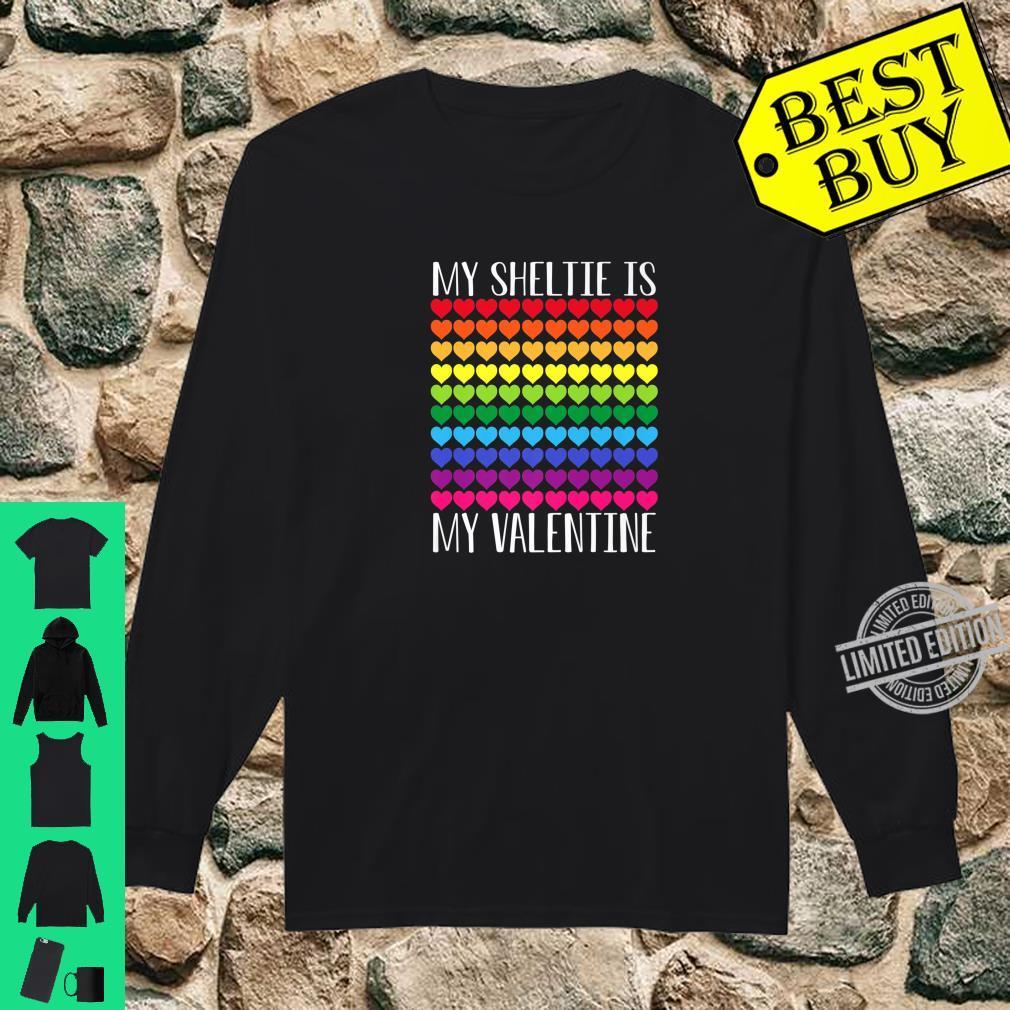 My Sheltie Is My Valentine Shirt long sleeved
