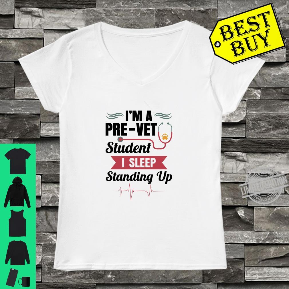 Official PreVet Student Sleep Standing Up Shirt ladies tee