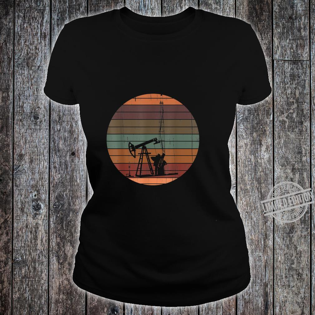 Oil Drilling Rig Patch Vintage For Oilfield Worker Shirt ladies tee