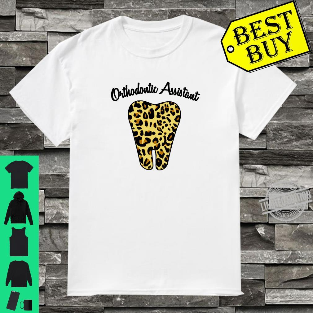 Orthodontic Assistant Cute Leopard Print Tooth Design Shirt