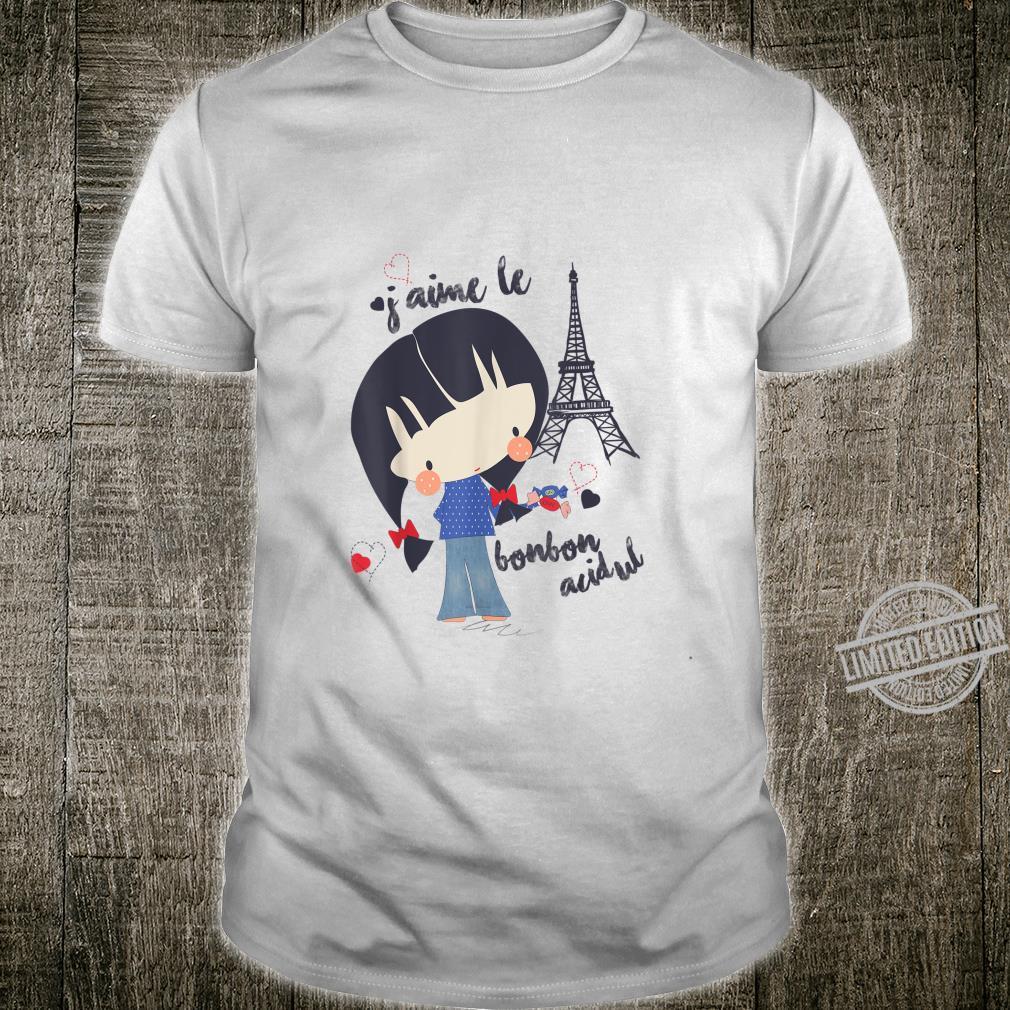Paris France Girl Bonbon Retro Souvenir French Vintage Shirt