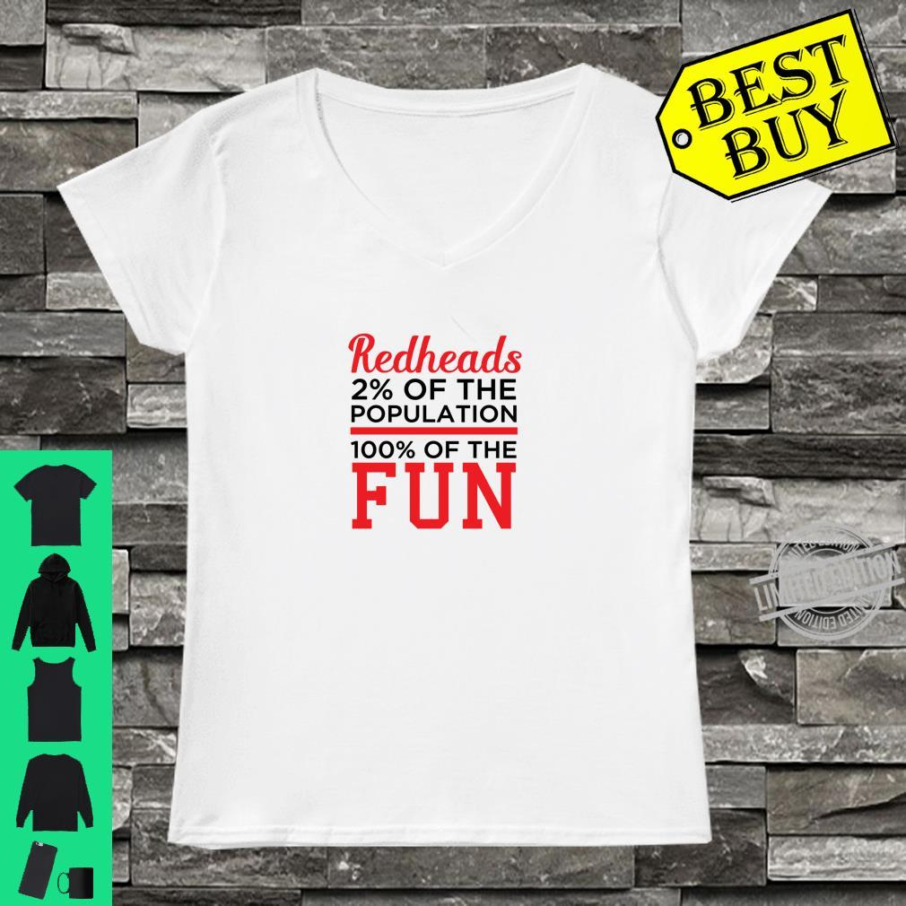 Redheads 100% Fun Ginger Shirt ladies tee