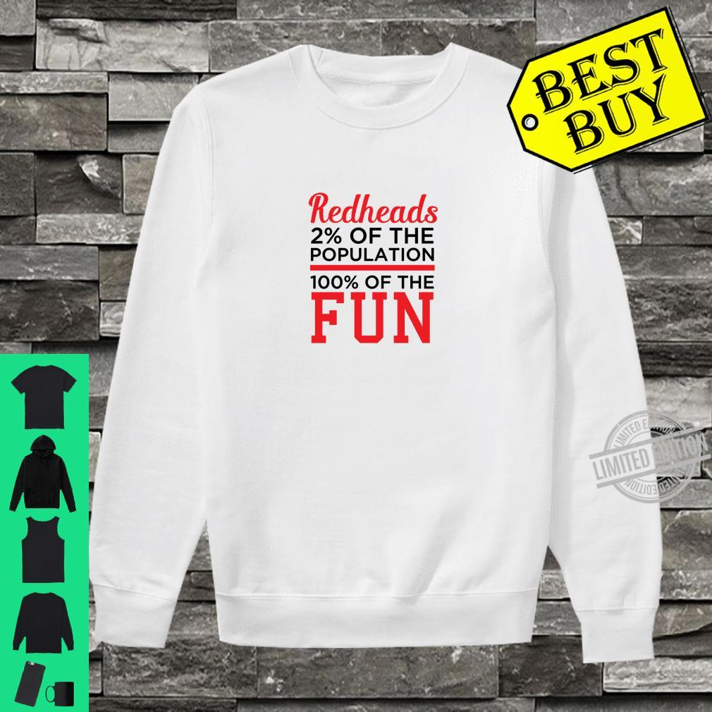 Redheads 100% Fun Ginger Shirt sweater