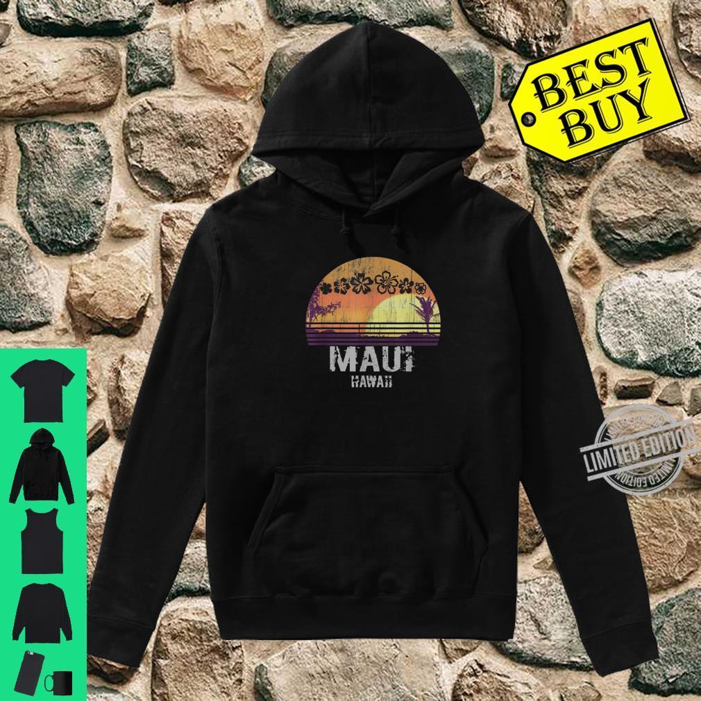 Retro Maui Hawaii Beach Sunset Vintage Shirt hoodie