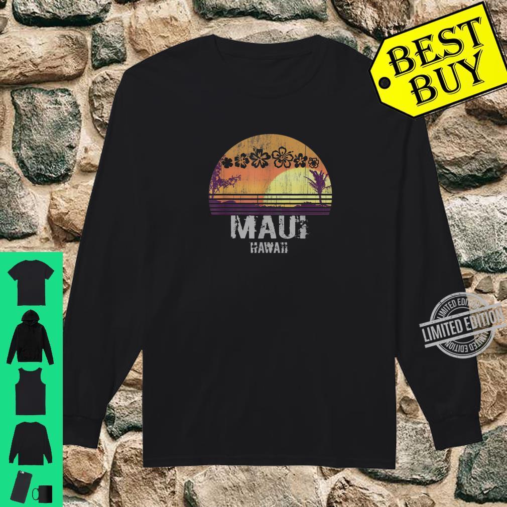 Retro Maui Hawaii Beach Sunset Vintage Shirt long sleeved