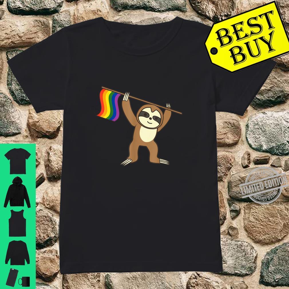 Sloth LGBT Colors Cool Pride Homosexuals Shirt ladies tee
