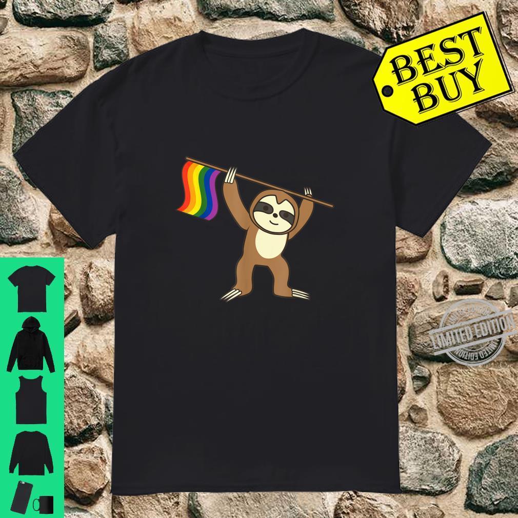 Sloth LGBT Colors Cool Pride Homosexuals Shirt