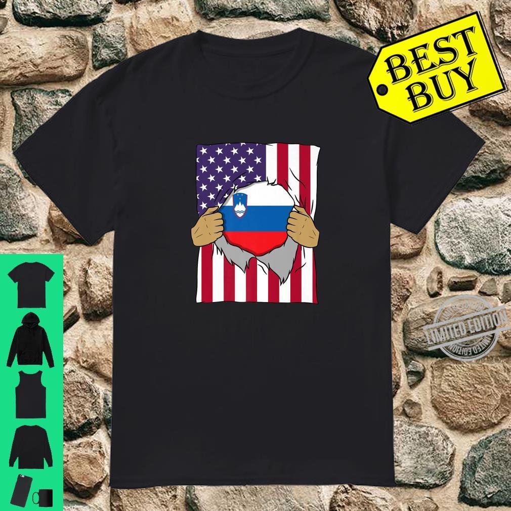 Slovenia Flag Inside Me Home Pride Slovene American Shirt