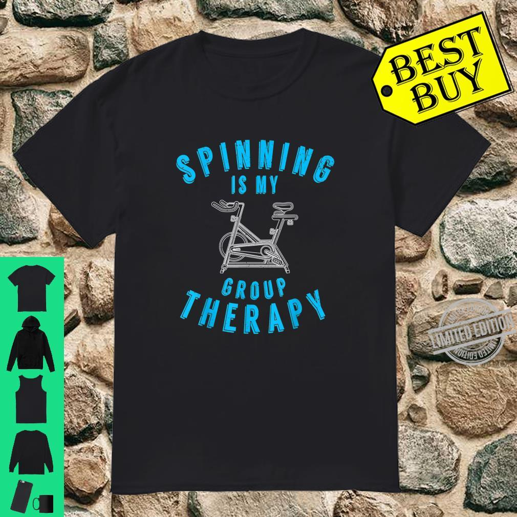 Spinning Is My Group Therapy Spin Class Workout Gym Shirt