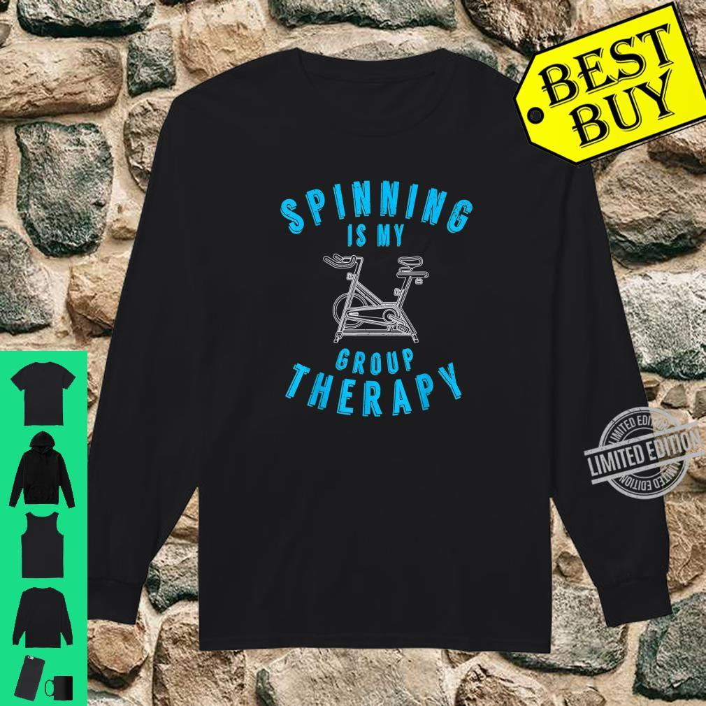Spinning Is My Group Therapy Spin Class Workout Gym Shirt long sleeved