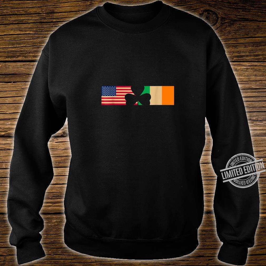 St Patricks Day Shamrock Irish and American Flags Shirt sweater