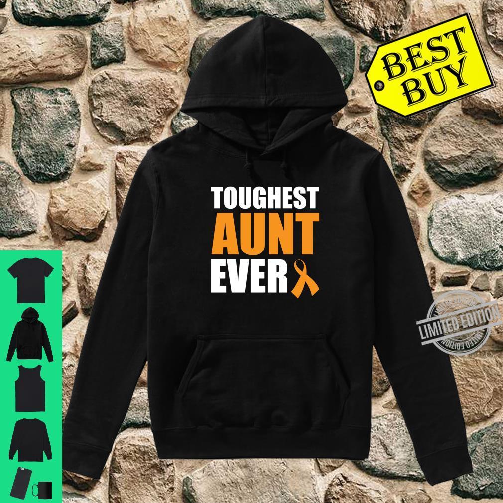 Toughest Aunt Ever Leukemia Awareness Cancer Survivor Shirt hoodie