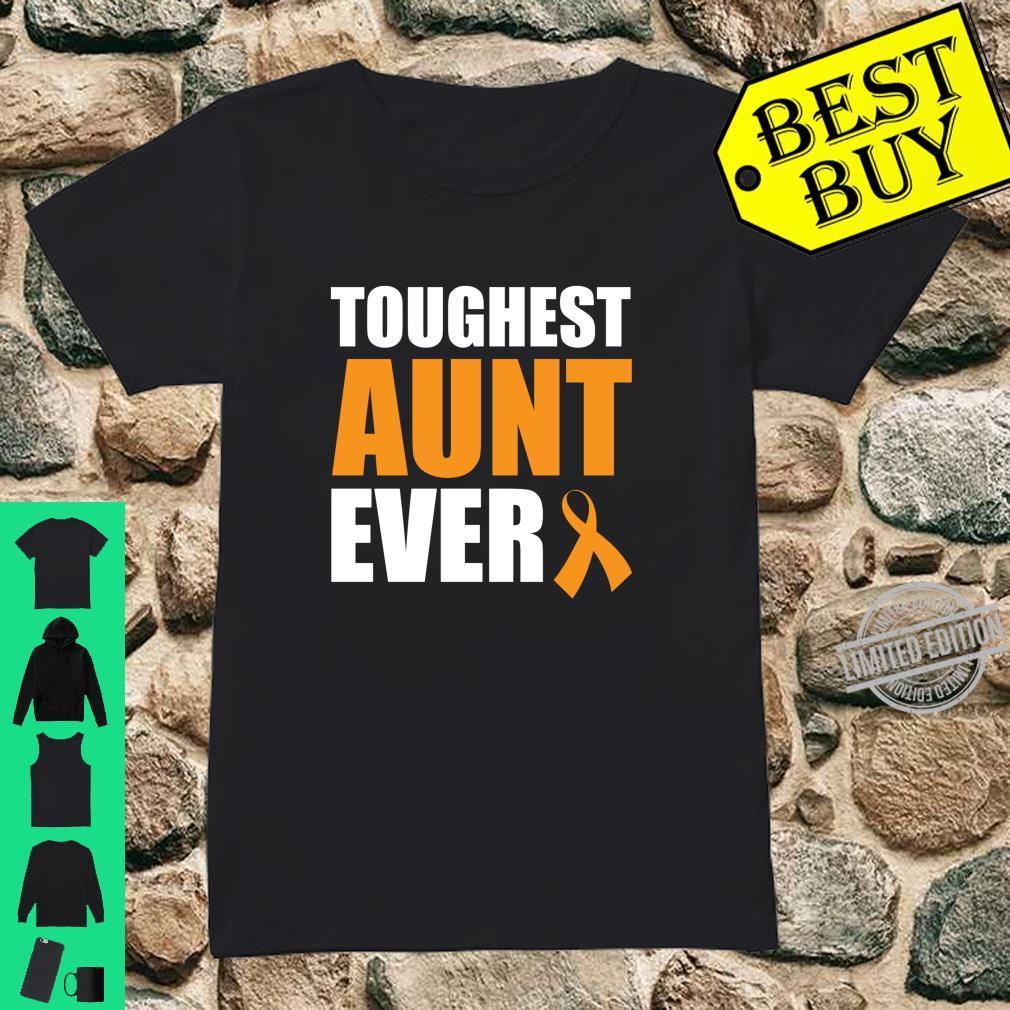 Toughest Aunt Ever Leukemia Awareness Cancer Survivor Shirt ladies tee