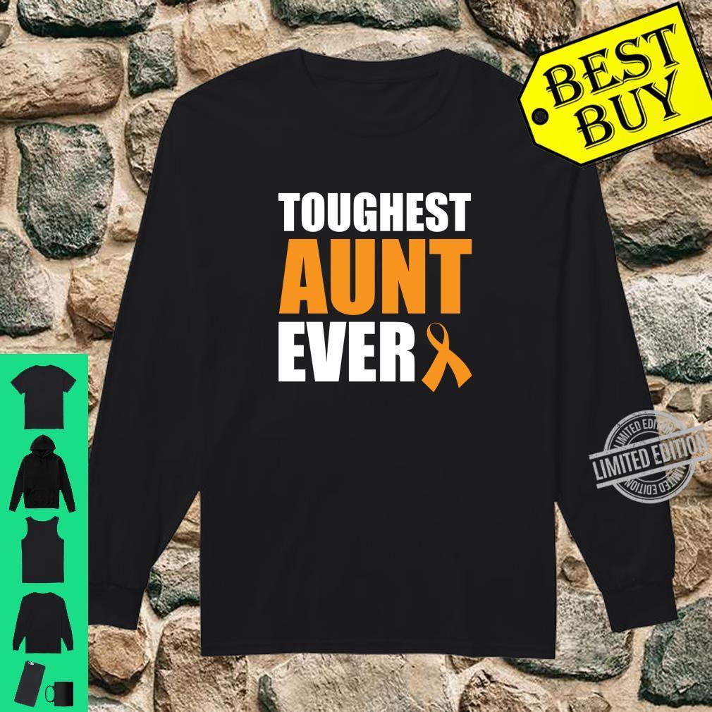 Toughest Aunt Ever Leukemia Awareness Cancer Survivor Shirt long sleeved