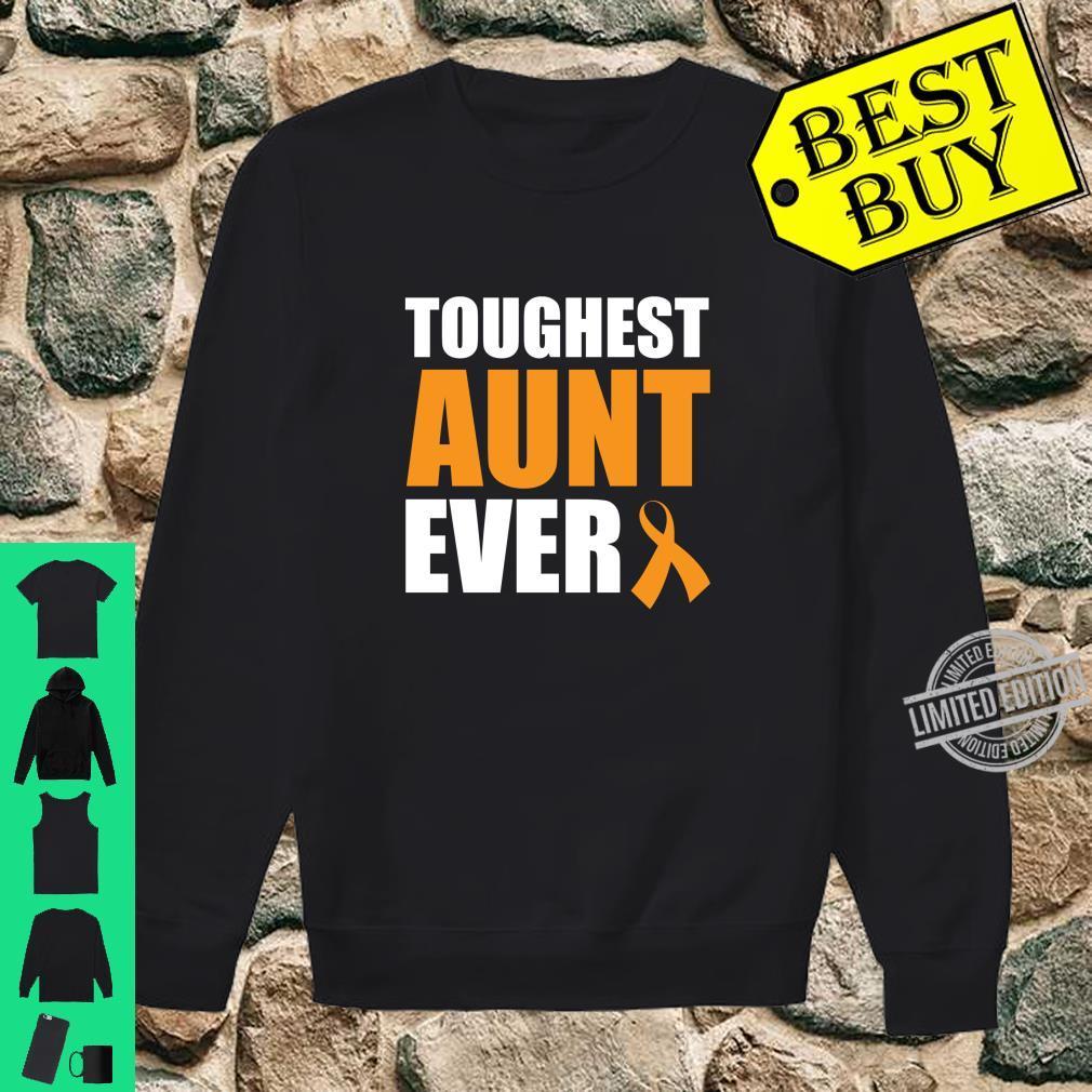 Toughest Aunt Ever Leukemia Awareness Cancer Survivor Shirt sweater
